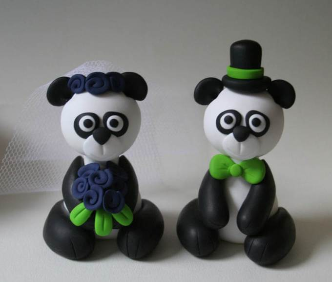 kerajinan clay tepung panda