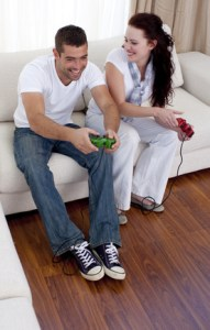 in love with a friend, platonic friends playing video games together