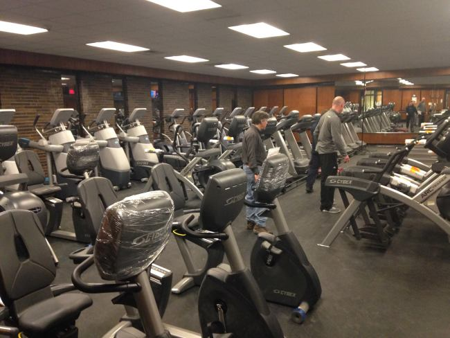 Hampshire Regional YMCA cardio equipment.