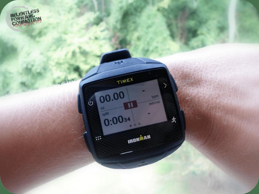 Timex Ironman GPS ONE run screen