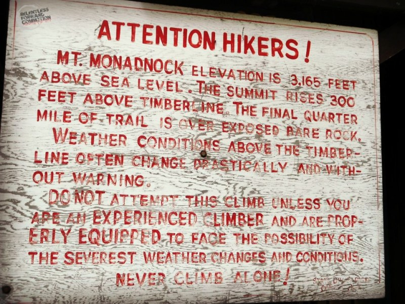 Monadnock sign