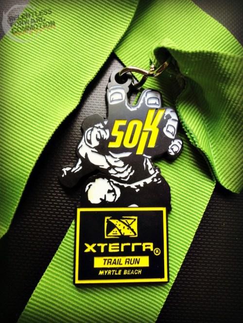 Myrtle Beach Hulk Xterra 50K medal