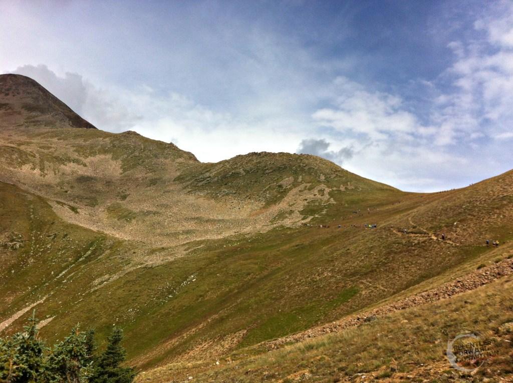 Climbing HOpe Pass
