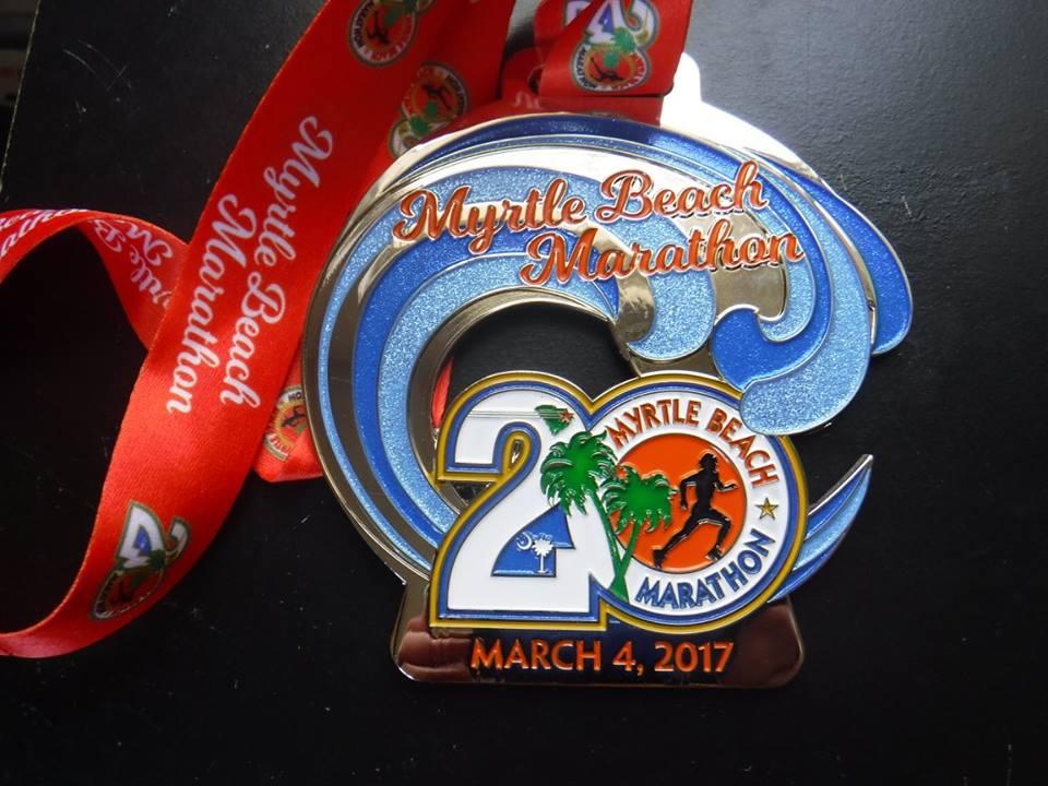 Myrtle Beach marathon meda