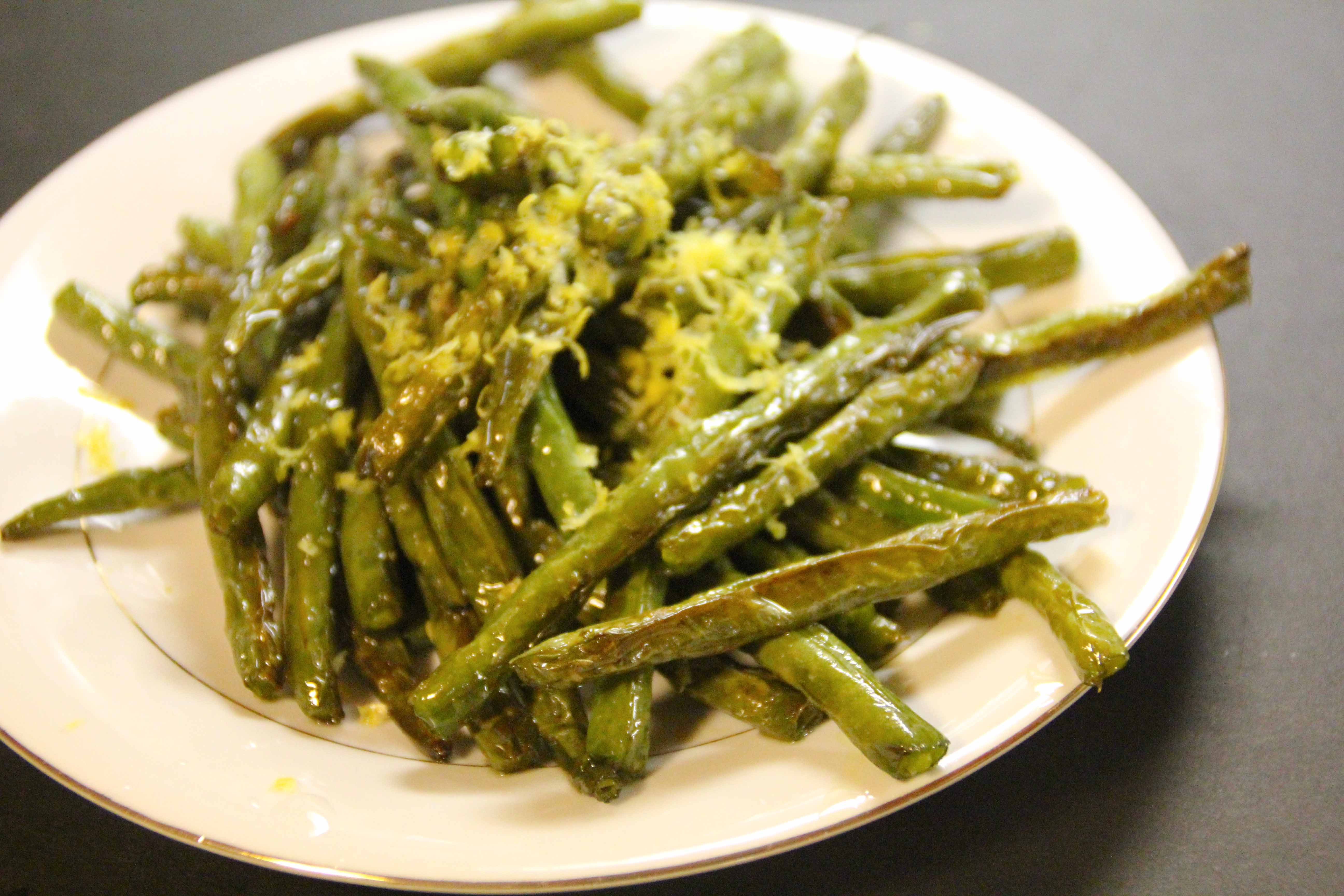 Roasted Green Beans with Lemon   the amused bouche