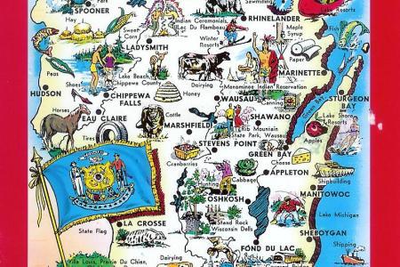 mapa wisconsin estados unidos