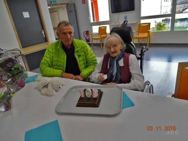 les 103 ans d'une résidente Léon Werth (1)