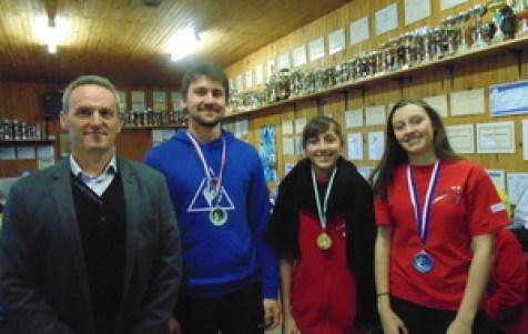 Mr Wary, Alexandre, Laureline et Zoé marathon 2016