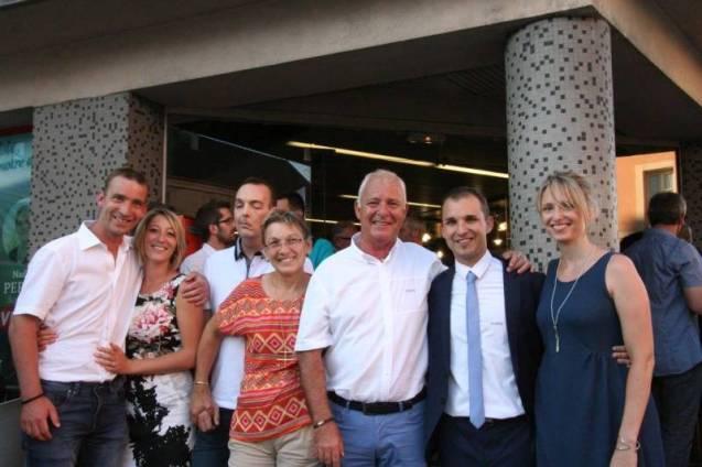 Christophe Naegelen en compagnie de sa famille.
