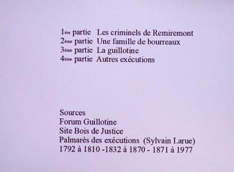 Conférence sur les criminels guillotinés (2)