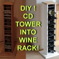 Repurposed And Reinvented - How To Turn A Wooden CD Tower Into A Wine Bottle Holder With Internal LED Lighting