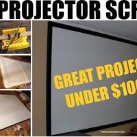 DIY Projector Screen For Under $100 Dollars