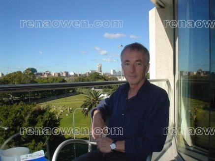Anthony Daniels on his hotel balcony