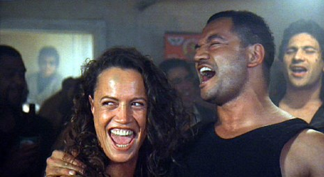 Beth (Rena Owen) and Jake (Temuera Morrison) enjoy a lighter moment