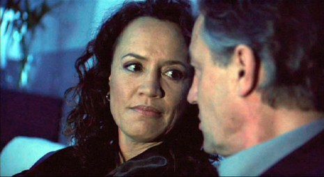Karina (Rena Owen) is confronted by Karl (Derek de Lint)