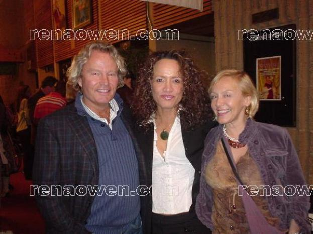 Rena and actors John Savage (Deer Hunter) and Lenore Zann (Shooter)