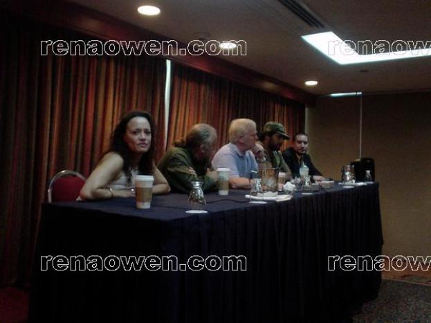 Rena on a panel with the other guests