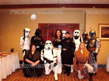 Rena poses with some Star Wars fans