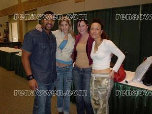 Rena with Sala Baker (Lord of the Rings) and Amy Allen and Michonne Bourriague (Star Wars)