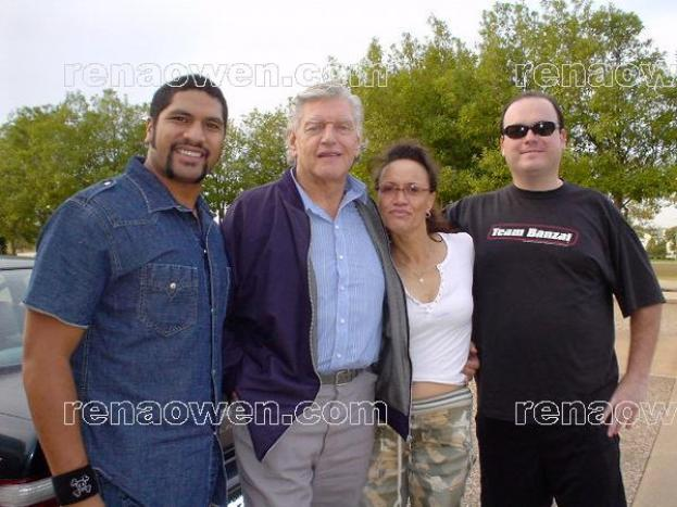 Rena with Sala Baker (Lord of the Rings) and Dave Prowse (Star Wars)