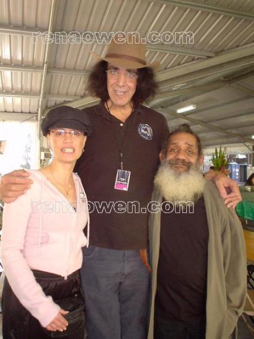 Rena with co-stars Peter Mayhew (Chewbacca) & Warren Owens (Fang Zar)