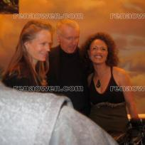 Rena with director James Cameron and wife Suzy Amis