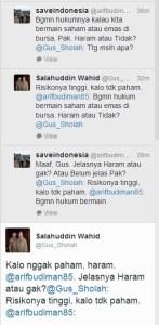 150116 Twit Gus Sholah Saham Haram - pendek