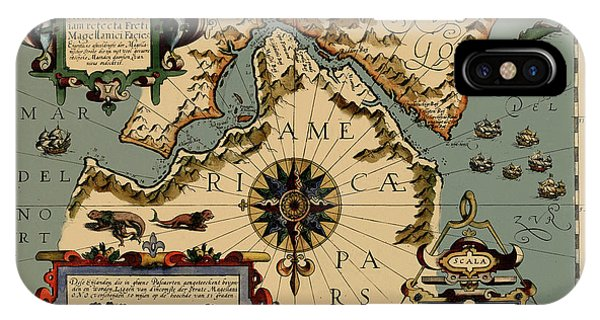 Strait Of Magellan iPhone Cases   Fine Art America Strait Of Magellan iPhone Case   Map Of The Strait Of Magellan 1611 by  Andrew Fare