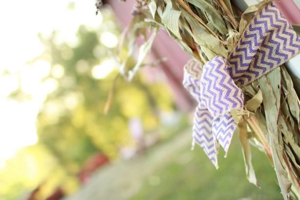 Purple Chevron Wedding Ribbon