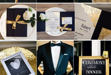 chic-gold-and-black-wedding-inspiration-with-gold-foil-wedding-invitations