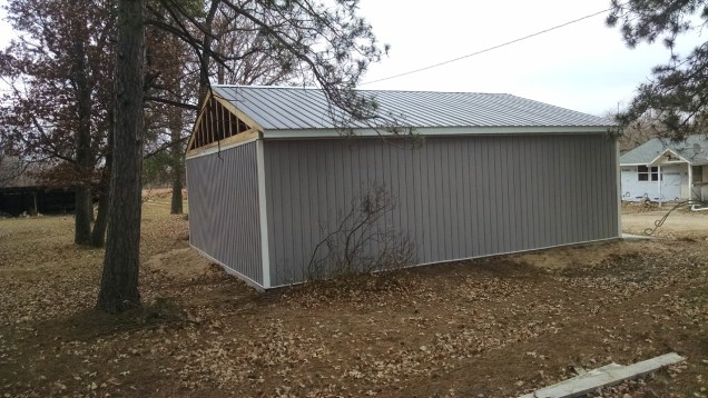 I can't wait to see this new siding on the house! The garage is almsot done!