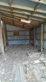 Here's the shed finally empty, there is still work to be done the rest of the debris on the floor was frozen so we couldn't get it all.