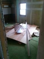 I also started work on my grandparents' old bedroom.