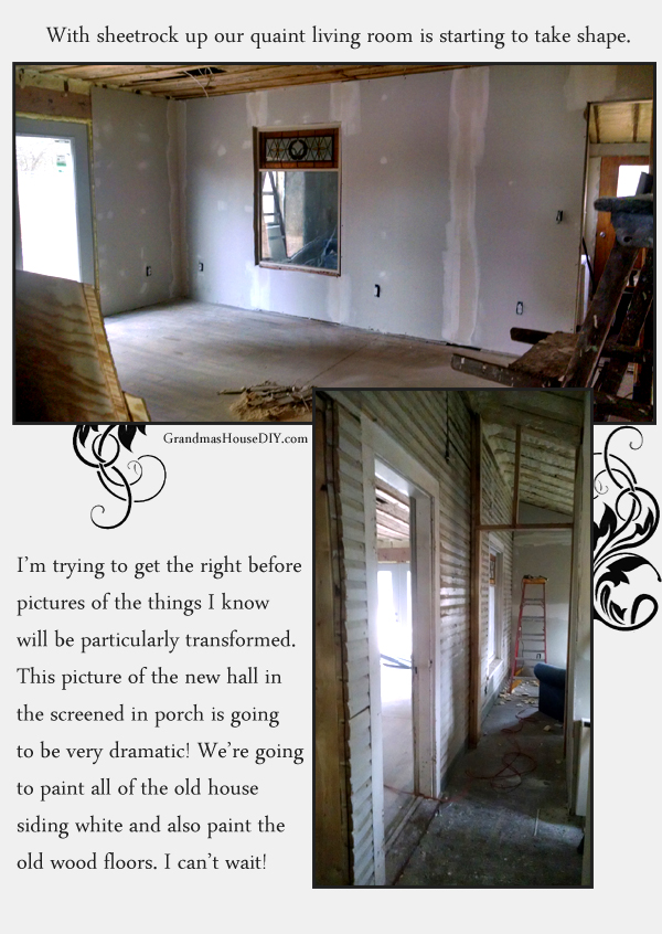 Taping and mudding in our 100 year old farm house