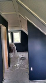 master bedroom dark gray