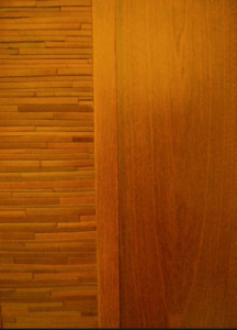 leather and wood door panel ocher ho3o69 In House Cut & Paste cabinet Refacing Projects...