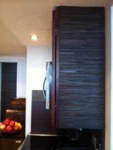 Kitchen cabinet refaced one e1383942356330 o34et9 In House Cut & Paste cabinet Refacing Projects...