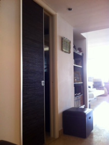 Sliding leather door studio txyx8s In House Cut & Paste cabinet Refacing Projects...