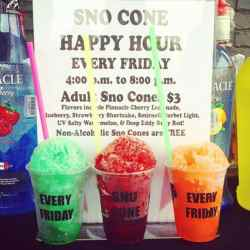 Small Of Snow Cone Flavors