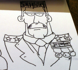 Braintown - Boceto inicial del comandante
