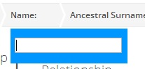 The FTDNA Family Finder Matches page Name Filter