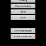 Im Startbildschirm der App SMS Backup & Restore