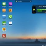 Auf dem Desktop befinden sich bereits die wichtigsten 'Apps'.
