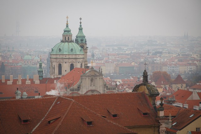 Панорама с Пражского града, Прага, 2012