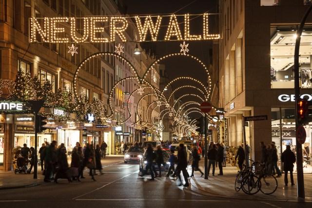 Рождественская иллюминация. Гамбург, 2012