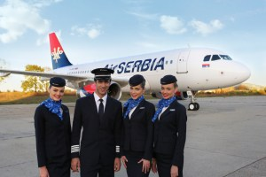 airSerbia with crew