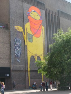 Os Gêmeos work at the Tate Modern museum, London