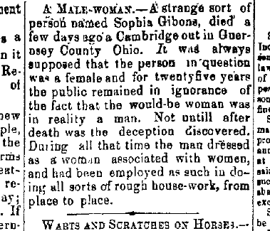 The Coshocton Democrat, Page 3;  May 5, 1865. (Coshocton, Ohio)