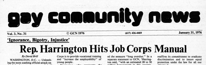 Gay Community News, January 31st, 1976 issue (Vol. 3, No. 31)