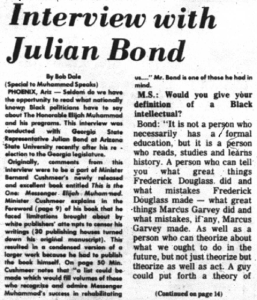 Julian bond interview
